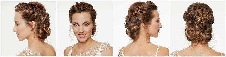 Peinados de novia cabello largo recogido