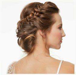 Peinados para vestidos de novia palabra de honor