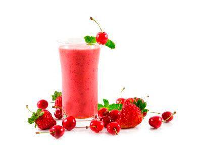 Smoothie-de-fresa-y-cerezas-para-el-dolor-muscular